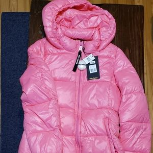 Pink JUICY COUTURE, Water Resistant Puffer Jacket,